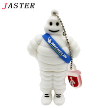 JASTER Michelin pendrive 2GB 4GB 8GB 16GB 32GB 64GB Cartoon lovely USB Flash Drives Pen drive USB 2.0 Memory stick