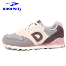 Deerway Brand Sneakers Women Sport Shoes Winter Sneakers For Women Outdoor Retro Boots Red Gray Trail Running Shoes For Women(China)