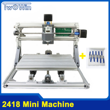 CNC Ronter DIY 2418 Mini CNC Machine,working area 24x18x4.5cm,3 Axis PCB Milling Machine with GRBL Control, Wood Ronter,Carving