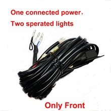 3.5m Front LED Light Wiring Harness Kit Relay Off-Road For Kawasaki Teryx For Honda Big red For Polaris Ranger for Can Am