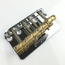1 Set Chrome Wilkinson WBBC Four 4 Strings Electric Bass Bridge With Brass Saddles For Precision Jazz