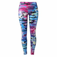 2017 women's fashion leggings, 3D digital print slim and healthy women leggins, Color Leopard Print printing fitness apparel(China)