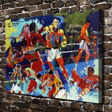 A1777 LeRoy Neiman Abstract Boxing Match .HD Canvas Print Home decoration Living Room bedroom Wall pictures Art painting(China)