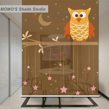 MOMO Blackout Baby Animal Kids Window Curtains Roller Shades Blinds Shutter Thermal Insulated Fabric Custom Size, Alice 392-395