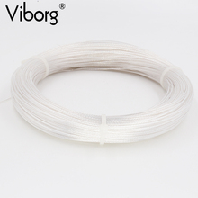 Free shipping 10meter/lots VIBORG  Silver Plated 6N OCC Signal Wire Cable 0.12square for DIY Headphone cable
