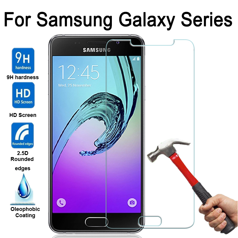Samsung Galaxy A3 A5 A7 Tempered Glass Screen Protector Samsung A3 A5 A7 2015 2016 2017 Display Cover Protection Case