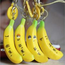 Key Chains Fashion Phone Strap Soft Bread Cute Sprinkle Simulation Squishy Banana New(China)