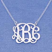Custom Sterling Silver Name Necklace,Personalized Monogram Necklace, Handmade 925 Sterling Silver Name Jewelry,Christmas gift(China)
