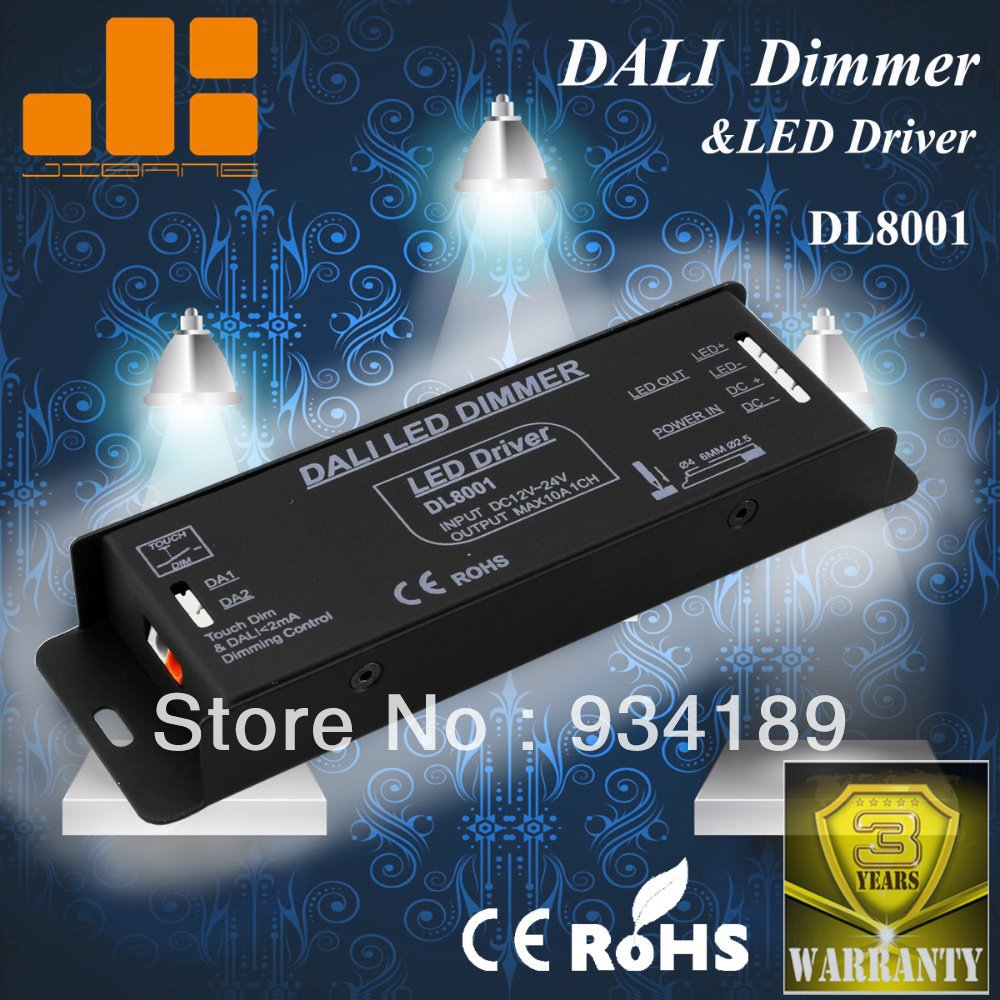 Free Shipping DALI DIMMER &amp; LED DRIVER W/ TOUCH DIM FUNCTION 1 Channel DC12-24V Constant Voltage Single Output&lt;10A  Model:DL8001<br><br>Aliexpress