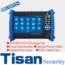 7 inch analog IP TVI CVI AHD camera tester 5 in one test monitor IP cctv tester for surveillance camera testing
