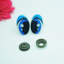 25*16mm Oval Safety Eyes/Blue Color Plastic Doll eyes Handmade Accessories For Bear Doll Animal Puppet Making - 50 pairs/lot