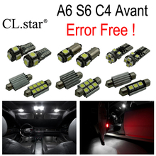 19pcs canbus error free LED bulb interior dome light kit package for Audi A6 S6 C4 Avant Wagon (1994-1997)(China)