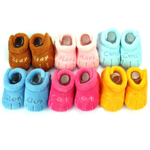 1 Pair Winter Girl Snow Boots Crochet Knit Fleece Baby shoes Toddler Unisex Skid-proof Soft Sole Baby Shoes(China)