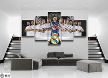 5 Panel Real Madrid Football Superstar Canvas Printed Painting Room For Living Picture Wall Art HD Decor Modern Artworks Poster