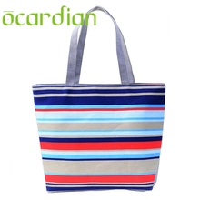 OCARDIAN New Fashion Summer Canvas Women Beach Bags Color Printing lady Girls Handbags Shoulder Casual Bolsa Shopping Bags