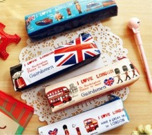 Hot sale casual style kawaii fashion antique sweet love london series Pencil bag Pouch Pen bag 12Pcs.Lot.Promotion & casual sty(China)
