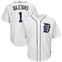 MLB Men's Detroit Tigers Jose Iglesias Baseball White Cool Base Home Player Jersey(China)