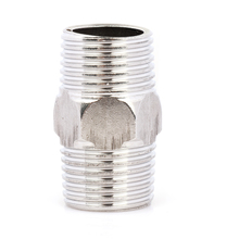 "1 PC New 1/2"" Male x 1/2"" Male Hex Nipple Stainless Steel 304 Threaded Pipe Fitting NPT P0.5(China)"
