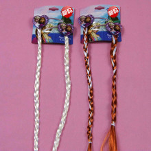 Newest Cute Cartoon Elsa Dolls Hair Clips With Long Braid Wig For Dolls Hairpins Decoration Girls Gift Baby Toys(China)