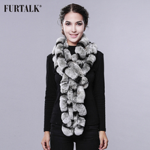 New arrival 80cm long ear neck warmer super nice rex rabbit fur shawl Russian real fluffy fur scarf for winter