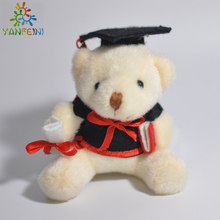 Plush graduation bear & cartoon character stuffed Graduation gifts Dr. bear 30pcs