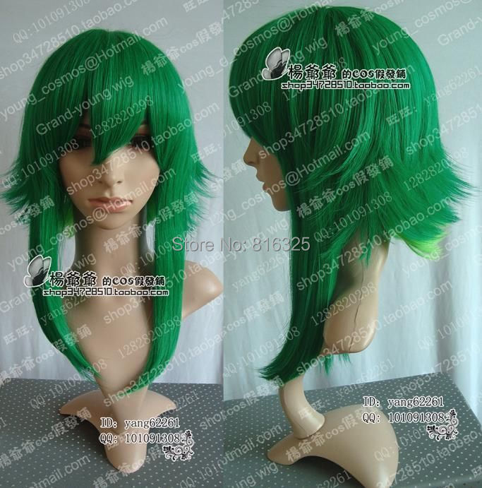 FREE P&amp;P&gt;&gt;&gt;bCosplay wigs VOCALOID GUMI Long Cosplay Dark Green Wig<br><br>Aliexpress