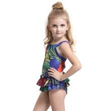2017 children swimsuit one piece swim suit for girls swimwear child swimming wear for kids bathing suit