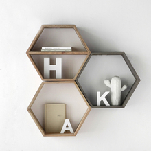 collalily Nordic Wall Decoration Magazine Storage diamond wood sundries Holders Racks Modern bookshelf Hanger corridor geometric(China)