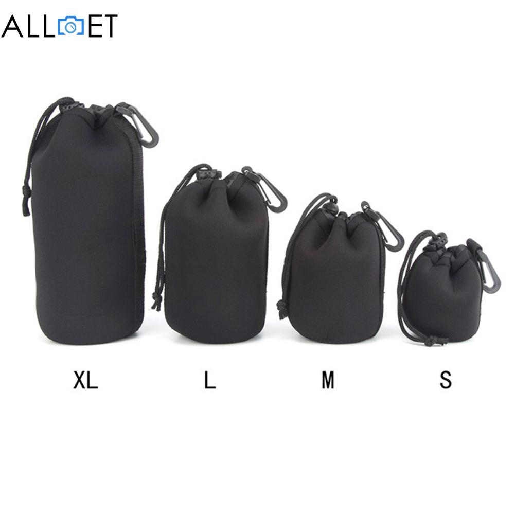 4pcs//lot Camera Lens Bag Neoprene Waterproof Soft Camera Lens Pouch Bag Case S//M//L//XL Lens Protective Pouch