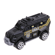 5pcs 1:64 Scale Alloy Police Car Models Kids Children Car Toy Gift Set  Pull Back Police Sound and light Car Toys For Children