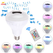 E27 Smart RGB RGBW Wireless Bluetooth Speaker Bulb Music Playing Dimmable LED Bulb Light Lamp with 24 Keys Remote Control(China)