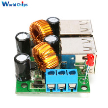 4-USB Port Step Down Power Supply Converter Board Module A5268 DC 12V 24V 40V to 5V 5A For MP3/MP4 Phone Car Equipment(China)