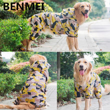 BENMEI Large Dog Coat Breathable Pet Puppy Clothes Sun UV Protection Protective Clothing Summer Camouflage Cute Jumpsuit Pants(China)
