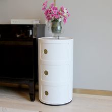Replica Anna Ferreiri Componibili Storage Unit 3 Round Modern Multi Function Storage Cabinet Living Room Bedside Cabinet ABS(China)