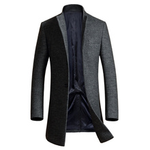 Luxury Wool Coat Men 2017 Winter Mens Cashmere Coat Brand Slim Fit Wool & Blends Mens Pea Coat Fashion Manteau Homme Overcoat(China)