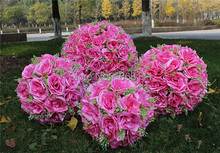 10pcs/lot Rose Flower Kissing Ball Diameter 20cm Artificial Rose Ball Flower Ball for Wedding Party Supermarket Decorations