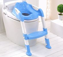 2017 New Baby Children Kids Boys Girls Potty Seat With Ladder Cover Toilet Folding Chair Pee Training Urinal Seating Potties(China)
