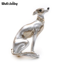 Banquet Enamel Dog Brooches Alloy High Quality Suits Sweater Hat Animal Brooch Pins Scarf Buckle(China)