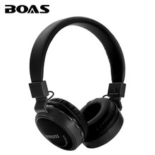 BOAS Bluetooth Wireless Headphone Support TF Card FM Radio Earphone Handsfree with Microphone Headset Earbuds for Iphone Samsung
