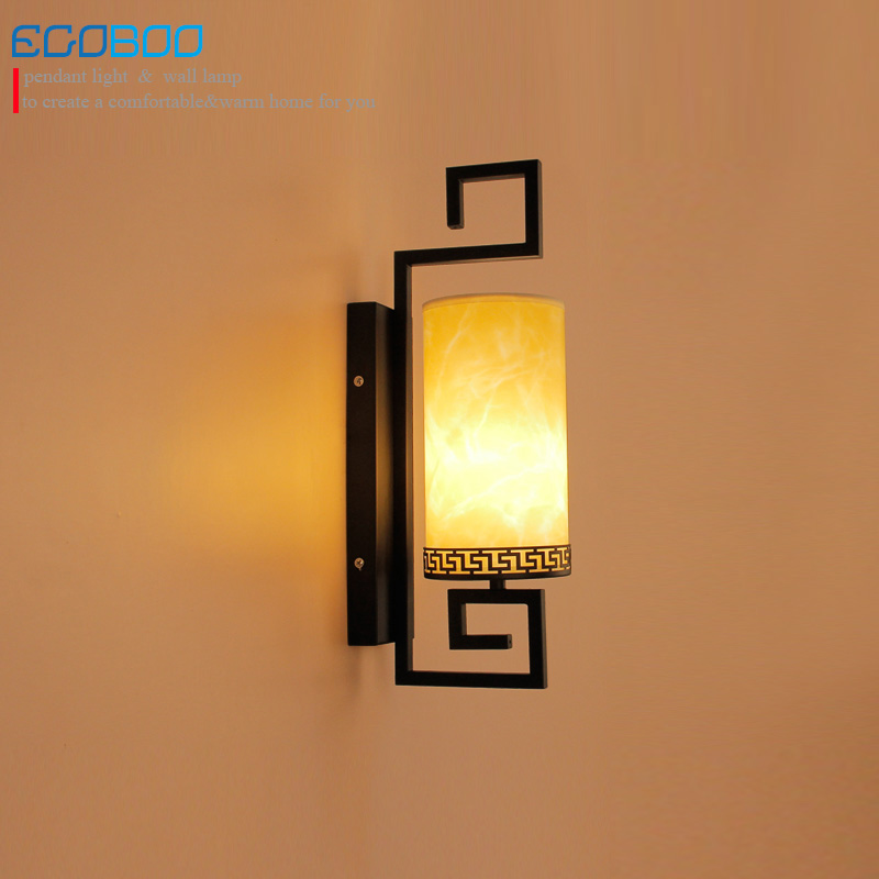 ECOBRT Class Antique wall lamps bedroom wall Sconces lamps creative hotel bedside wall lamp with E27 Bulb Socket 220V / 230V AC<br>