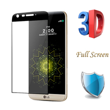 New 0.26mm Full Screen 3D Curved surface Tempered Glass Film For LG G5 SE Screen Protector Saver Glass On For LG G5 9H Hardness(China)