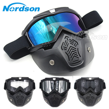 Motocross Goggles Motorcycle Glasses Face Dust Mask And Mouth Filter For Motor Oculos Windproof off Road Helmets Mask Goggles