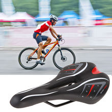 Shock-Proof Hollow Road Bicycle Saddle Breathable PVC Leather Soft Sponge Pad Mountain Bike Front Seat Mat Cycling Accessories