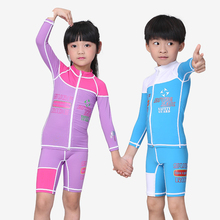 New Kids Baby Girls Boys Wetsuit One Pieces Diving Suits Surfing Rash Guards Children Swimwear #618