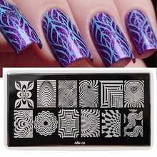 Nail Salon 1pc Large Designs Nail Art Stamping Template Plate With White Pad Nail Art Stamp Tool SALesCool06