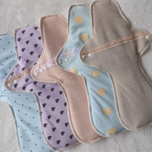 5Pcs Reusable Sanitary Pads Menstrual Pad Cloth Sanitary Maternity Mama Pads Sanitary Napkin Washable Panty Liners night 29cm(China)