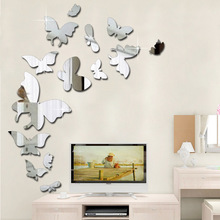 The Butterfly Carved Mirror Wall Stickers Amazon Ebay Processing Source of Foreign Trade Explosion DIY Creative Painting
