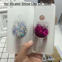 Buy Glitter Quicksand Phone Cases Alcatel Shine Lite OT 5080 Case Bling Cute Soft Silicon Back Cover 3D Capa Fundas for $3.57 in AliExpress store