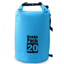 20L Outdoor PVC IPX6 Waterproof Dry Bag Durable Lightweight Diving floating Camping Hiking Backpack Swimming Bags Free Shipping(China)