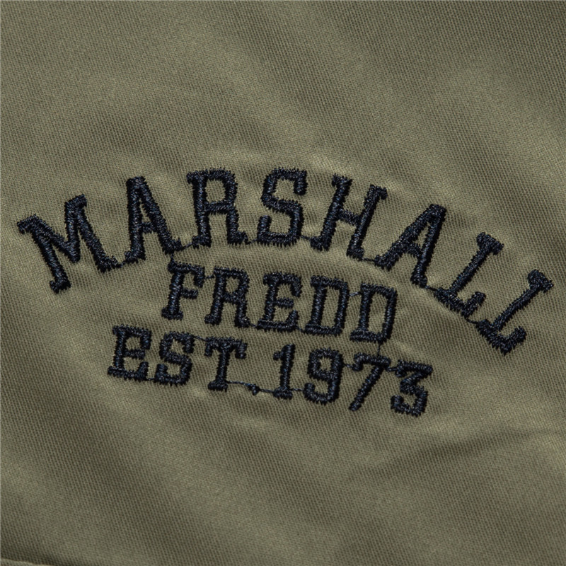 Fredd Marshall Fashion Men's Shirts Spring Cotton Solid Color Long Sleeve Male Shirt with Zipper Pockets Camisa Masculina Plus Size (6)